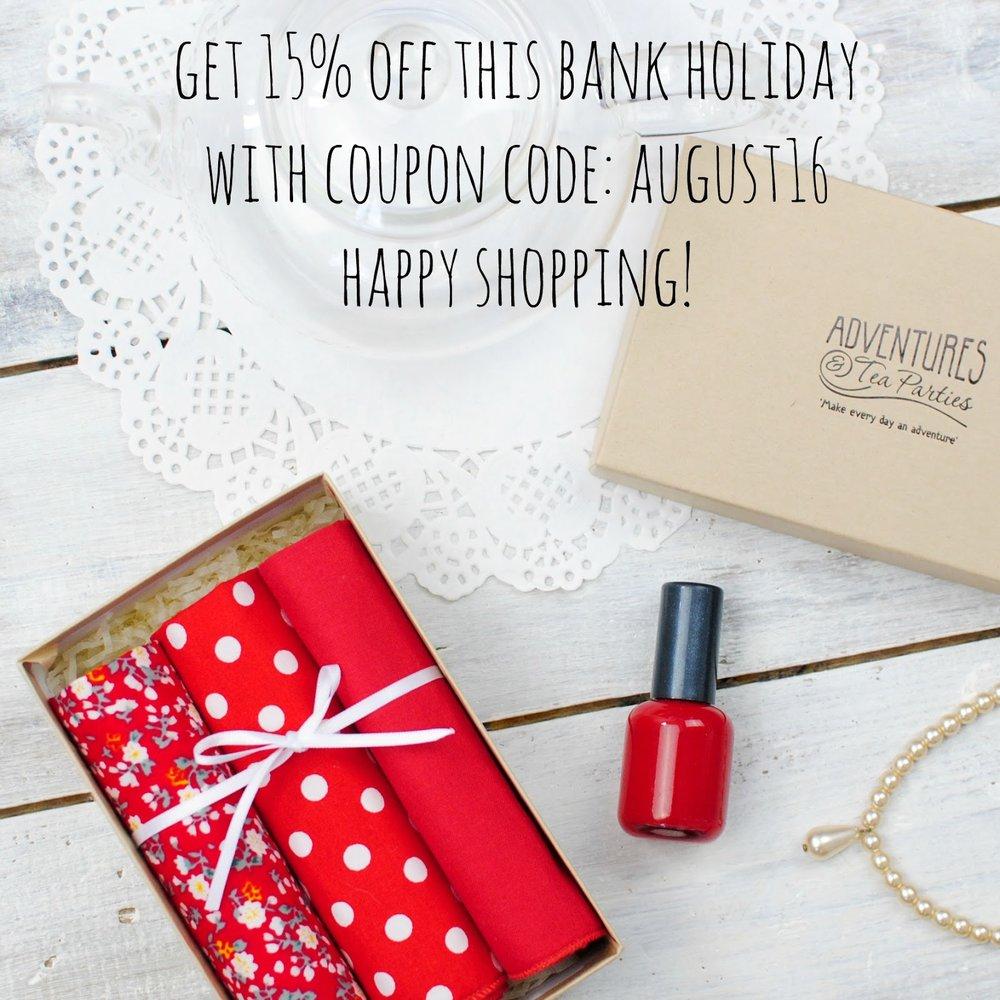 Bank Holiday Discount Code