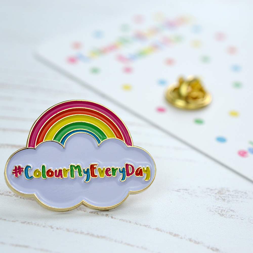#ColourMyEveryDay Instagram Challenge soft enamel pin by Adventures & Tea Parties