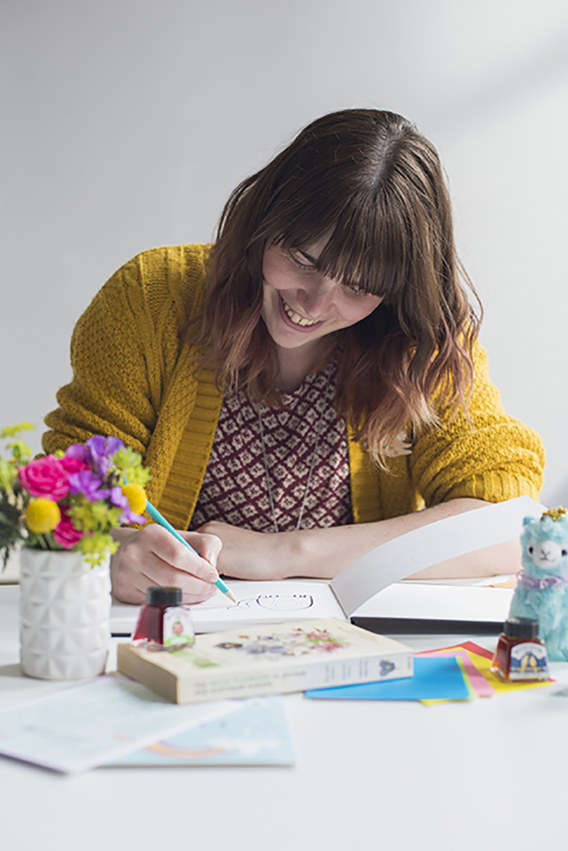 Louise Wright Illustrator - interview feature on Adventures & Tea Parties' blog