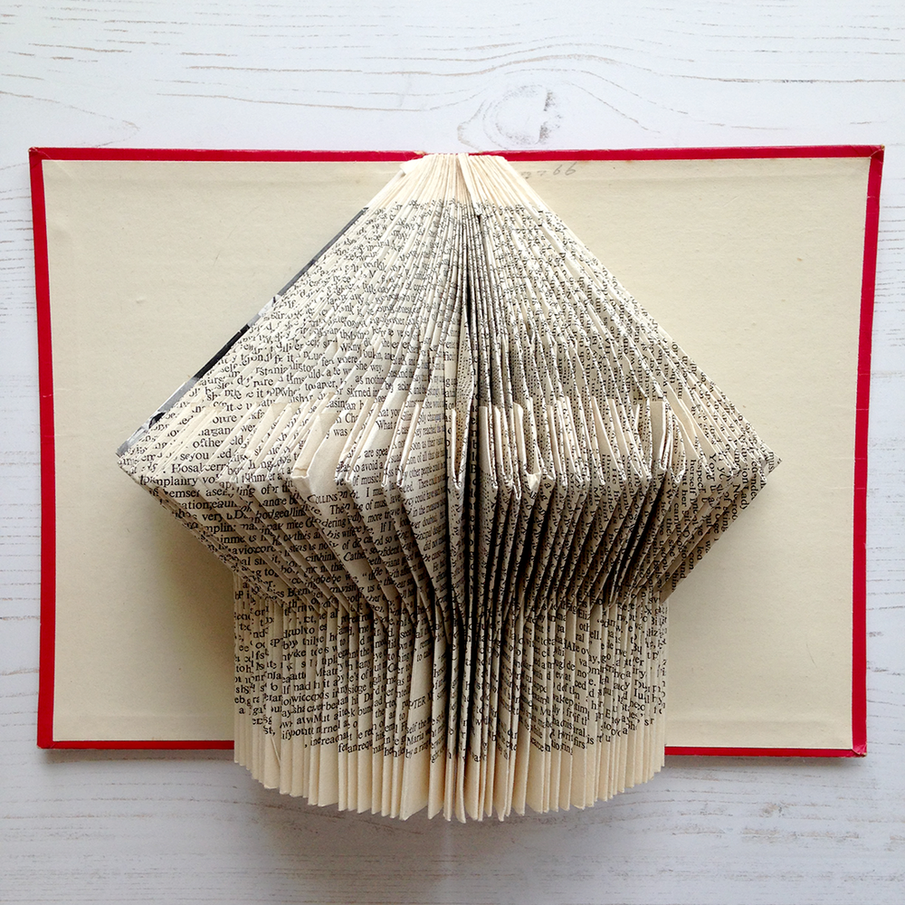 Book Art ideas written by creative lifestyle blogger, Joanna Payne from Adventures & Tea Parties. Ideas for book art and paper creative skills available at Simple Stylish Makes blog.