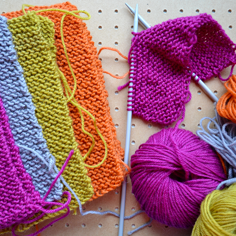 Knitted blanket work in progress by Joanna at creative lifestyle blog, Adventures & Tea Parties.