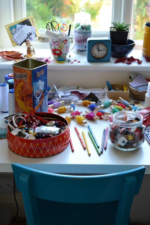 Adventures & Tea Parties' studio desk
