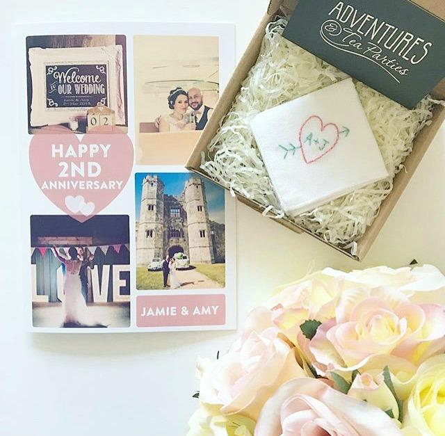 Adventures & Tea Parties personalised handkerchief