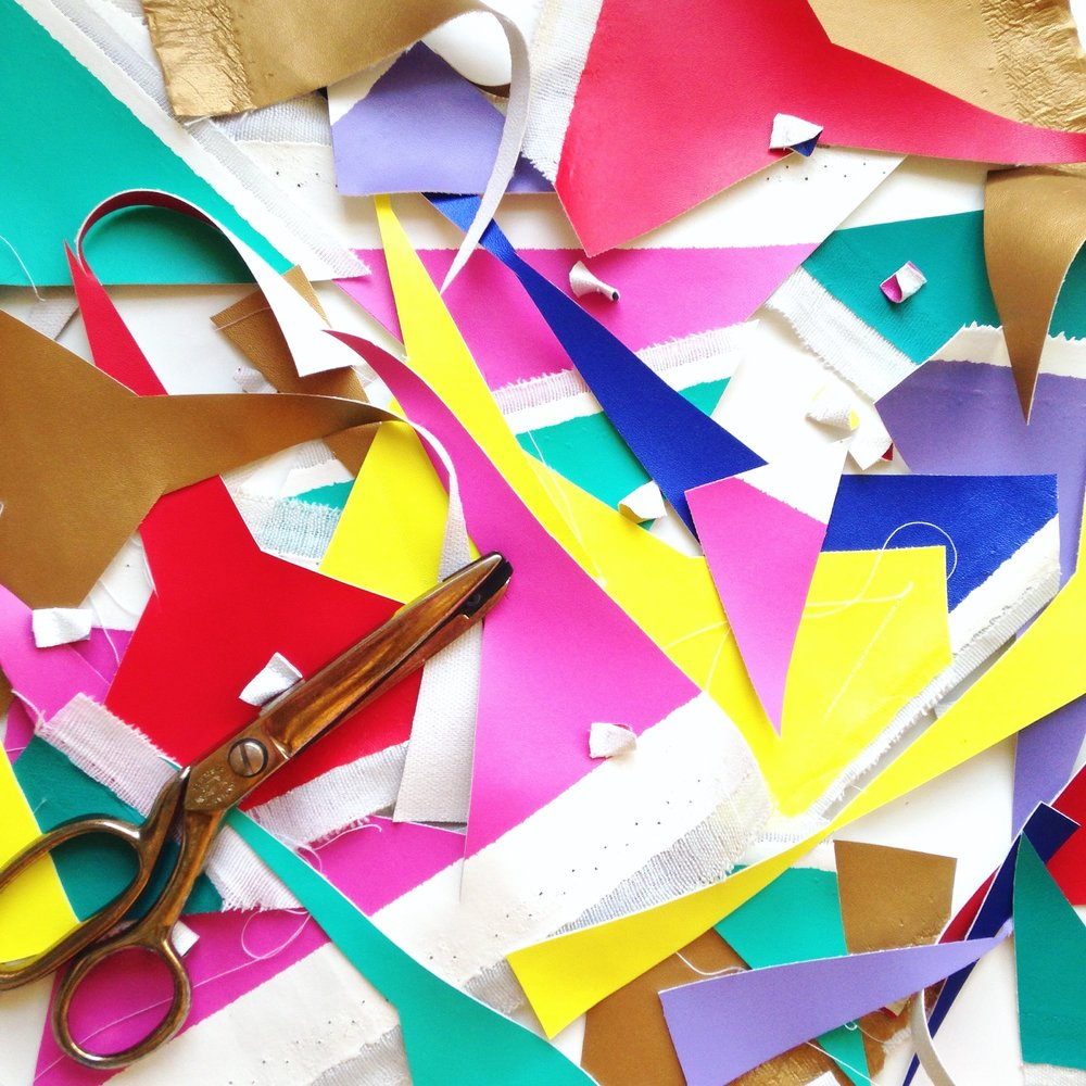colourful crafty mess