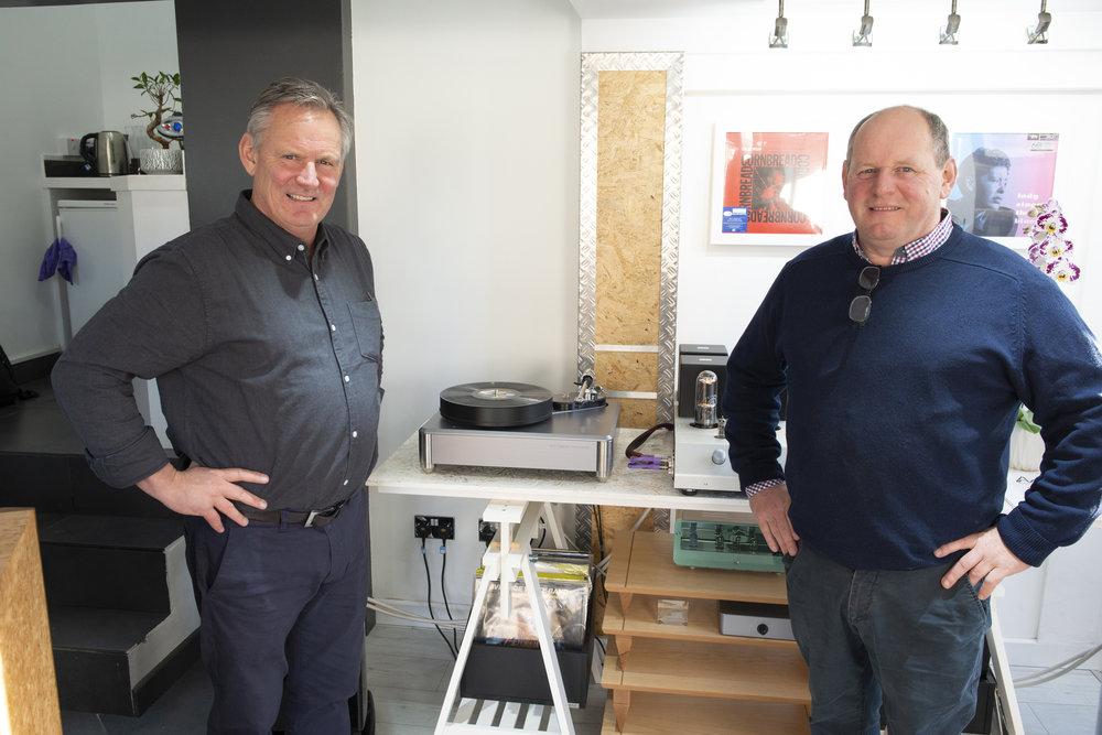 Derek & Ramsay Dunlop visit Audiophilia, Scotland