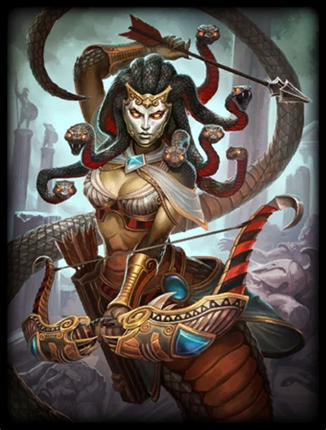 MEDUSA as seen in the video game SMITE