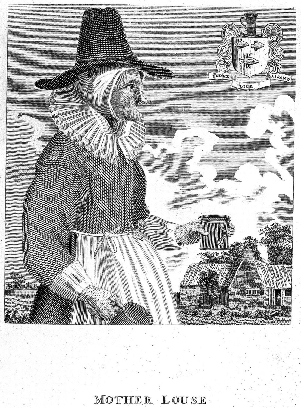 A seventeenth-century engraving of a dubious Alewife, Mother Louse, from Oxfordshire.  Courtesy of: Wellcome Library, London.  http://wellcomeimages.org  http://creativecommons.org/licenses/by/4.0/