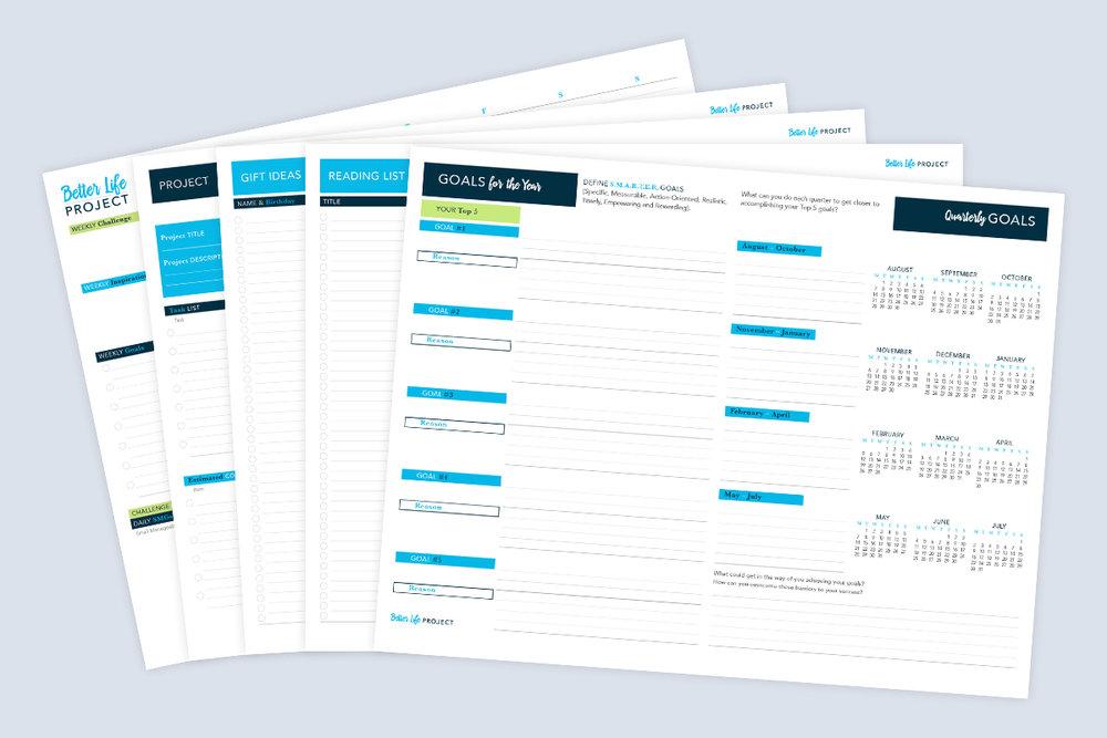 planner essentials printable kit
