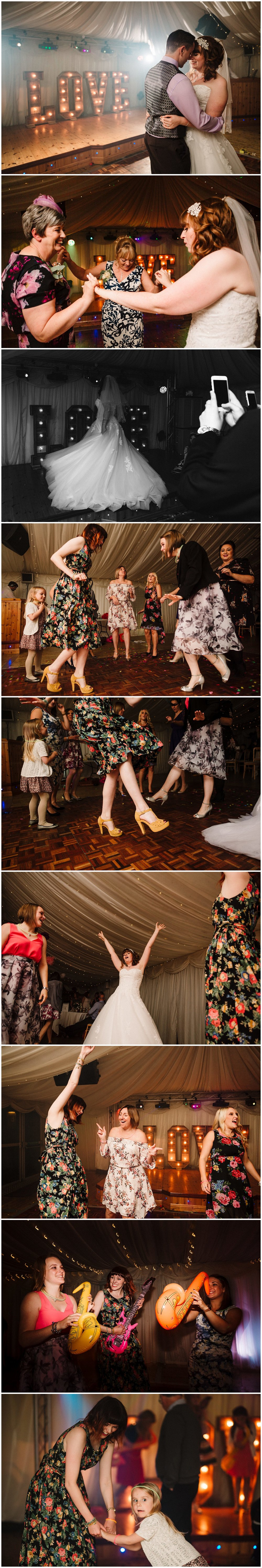 documentary wedding photography on a wedding dance floor in yorkshire