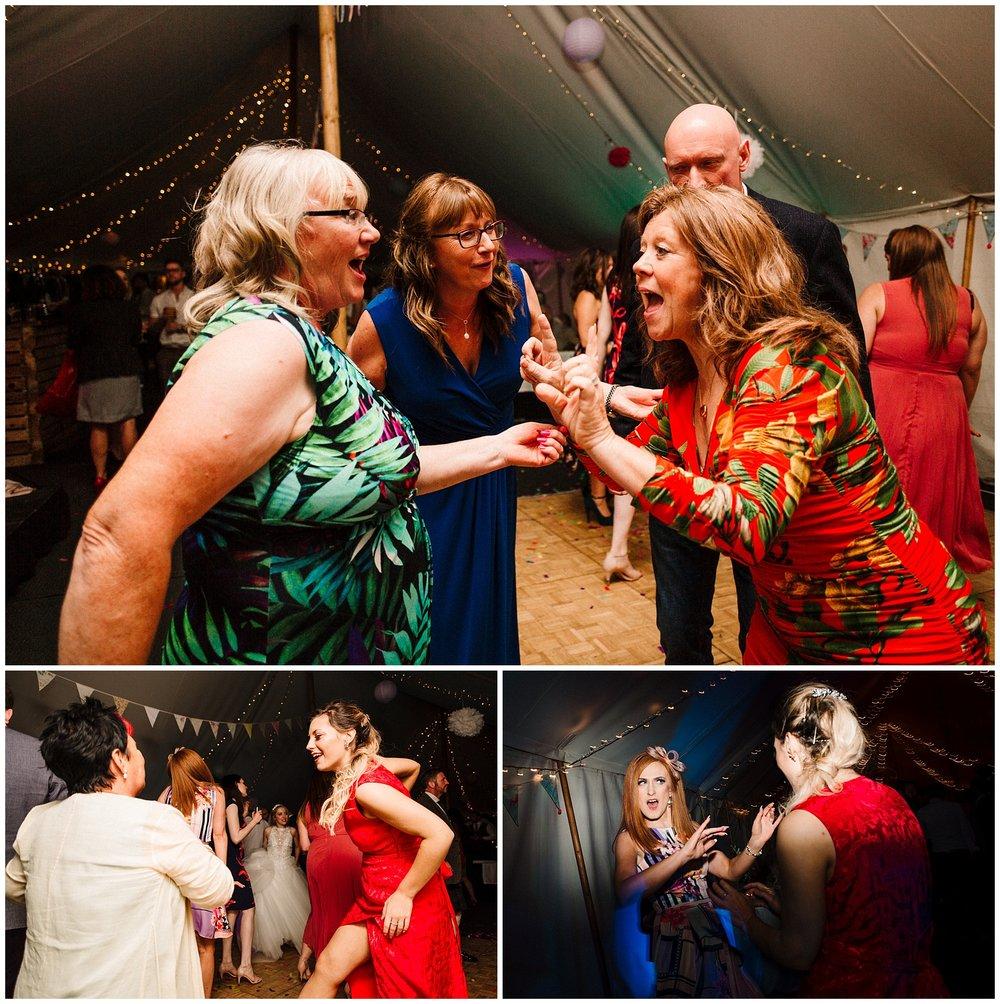 guests dancing on a wedding dancefloor