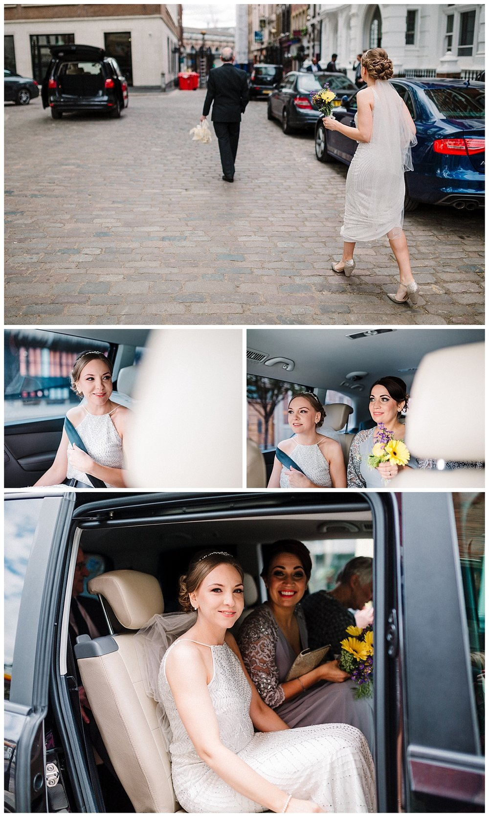 bride and bridesmaid in Islington in london