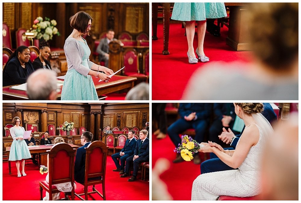 an islington town hall city wedding in the council chamber room