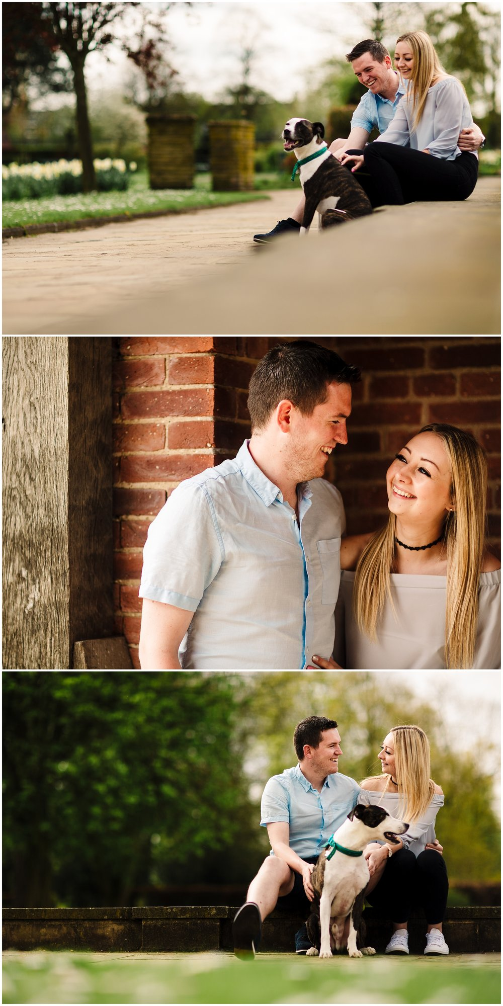 A couple on a pre-wedding shoot in york
