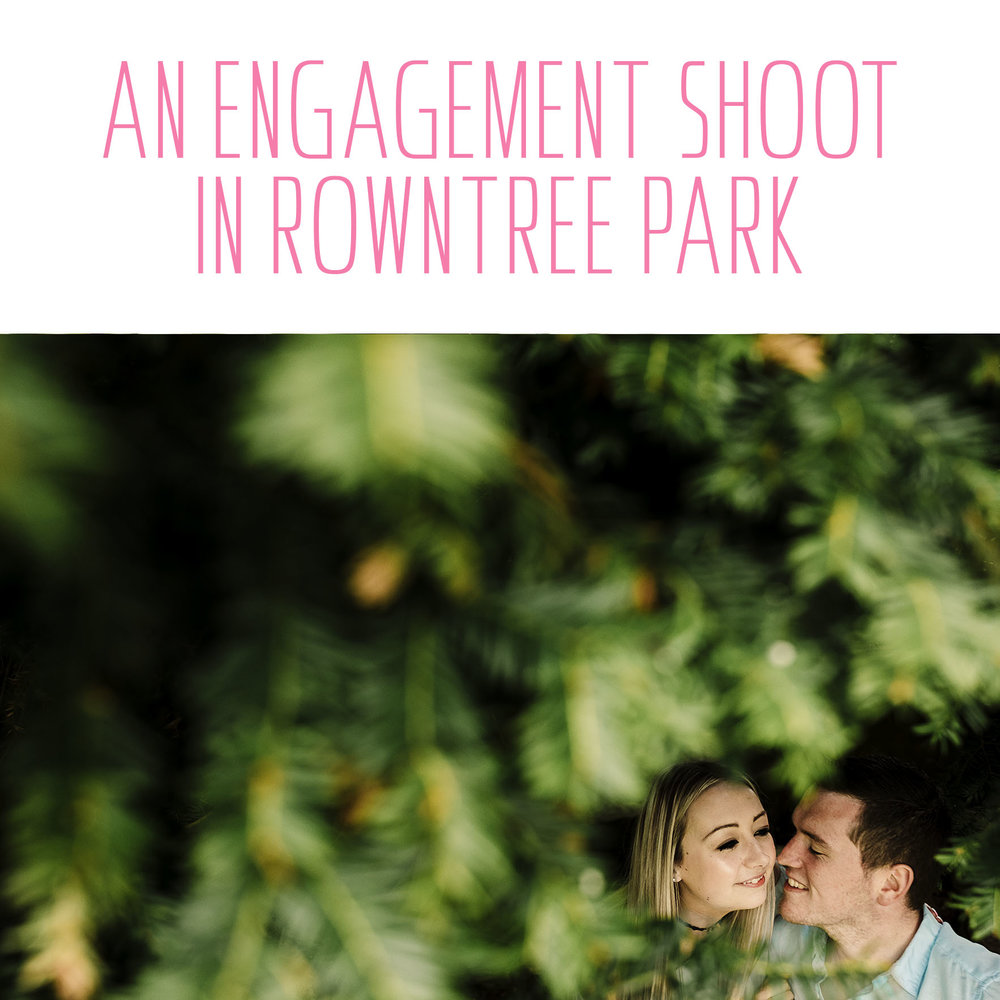 A pre wedding shoot in Rowntree Park York