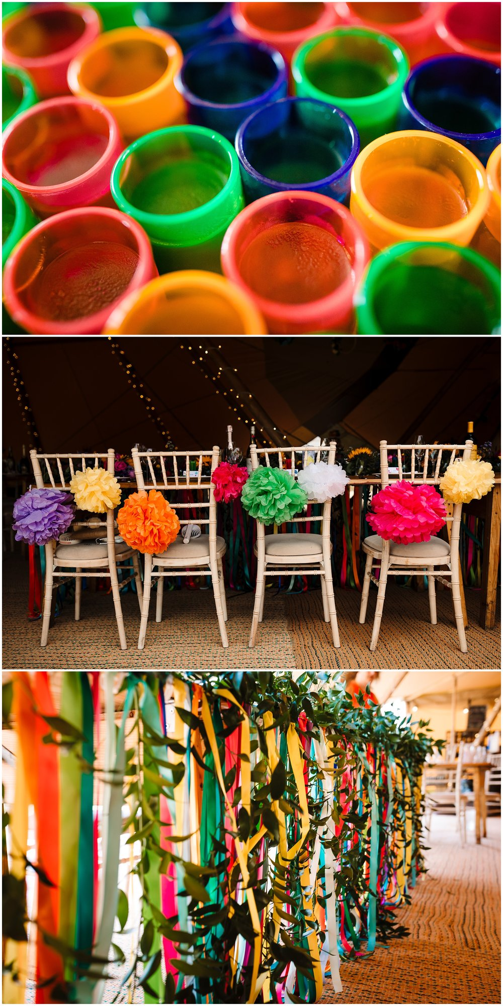 colourful wedding decorations in yorkshire