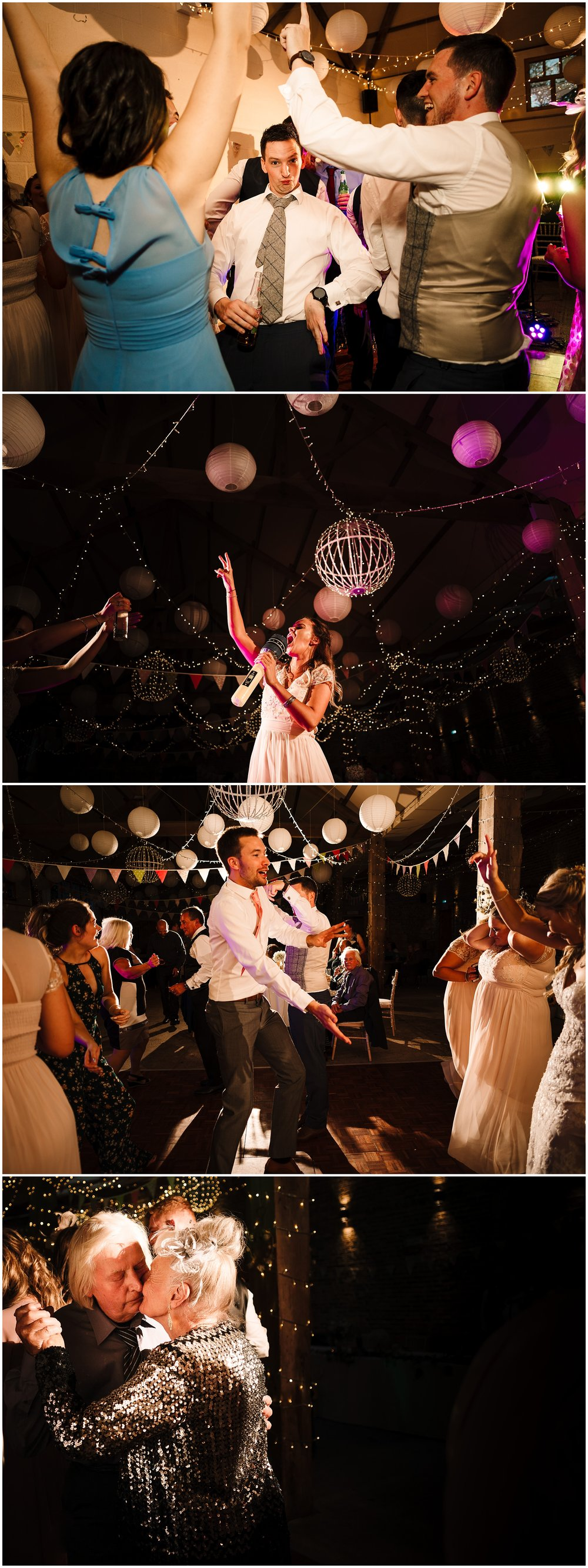 GUESTS DANCING AT A BARN WEDDING IN YORKSHIRE
