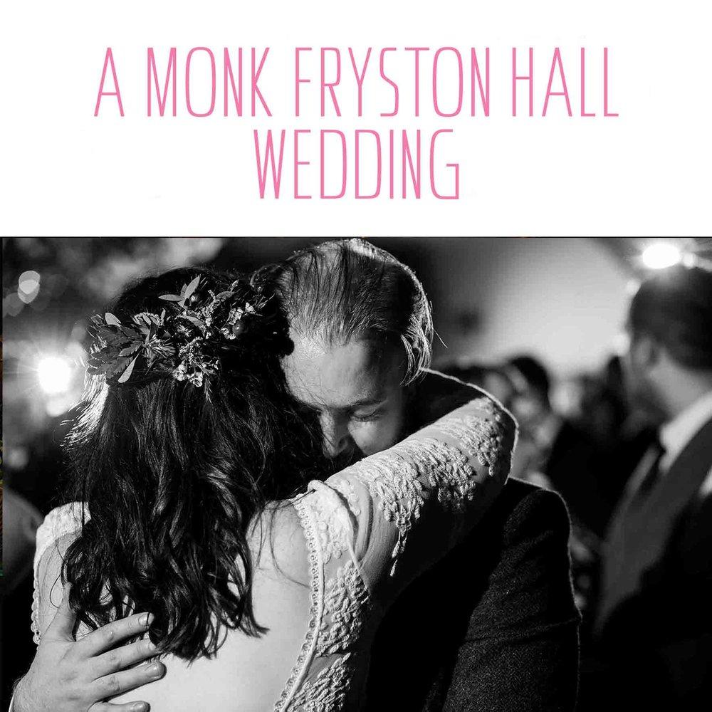 monk fryston hall wedding leeds