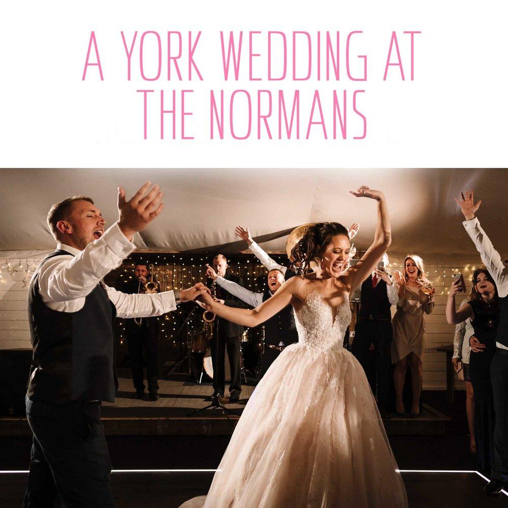 Sarah & Martin's York Wedding at The Normans