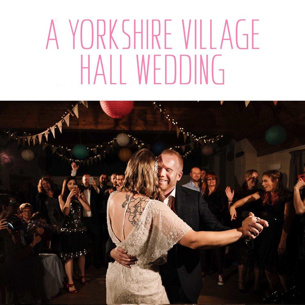 Jo & James's Yorkshire Village Hall Wedding Photography