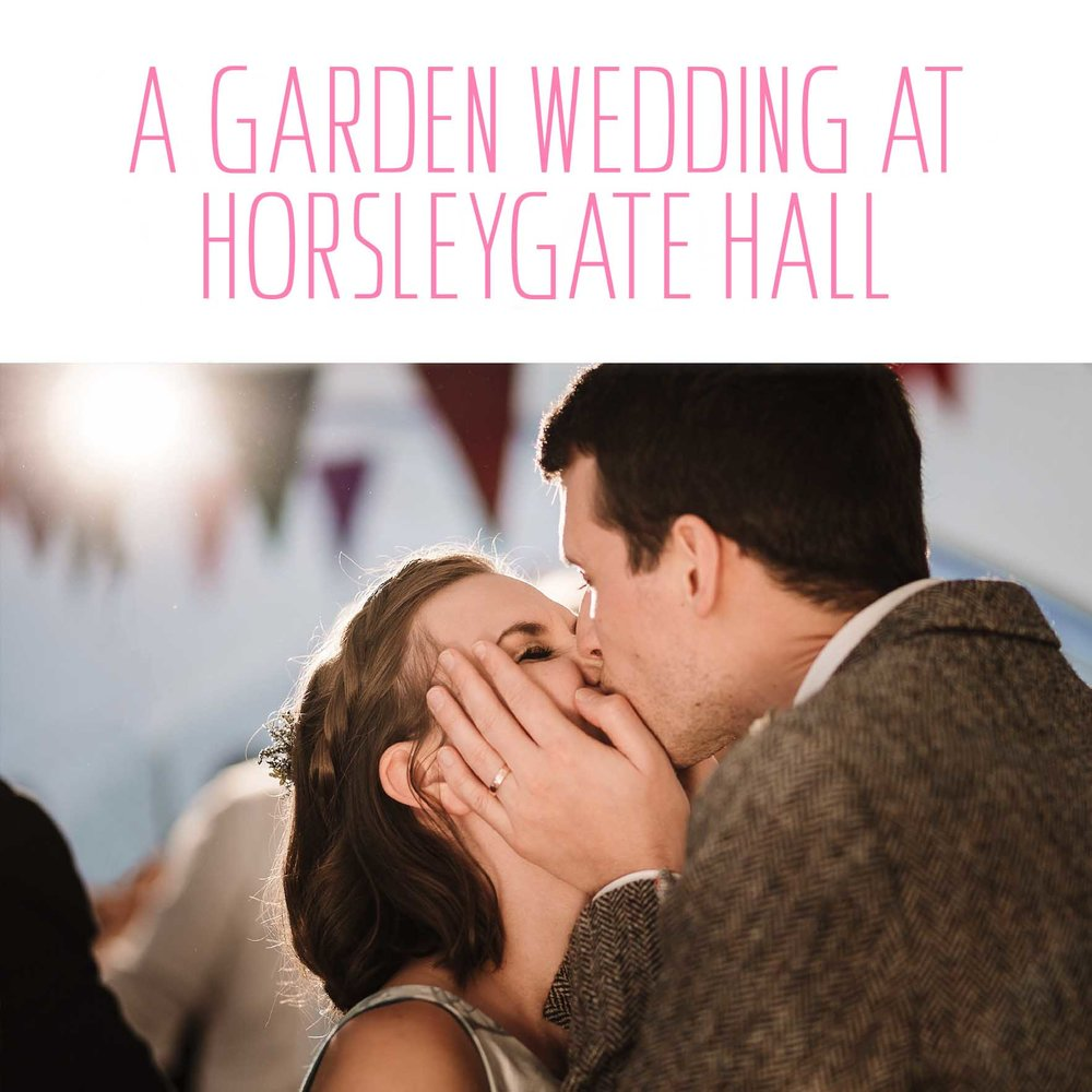 A garden wedding at Horsleygate Hall