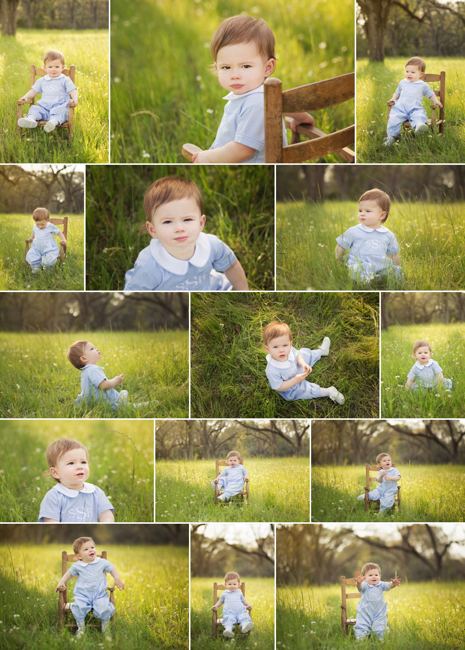 One year photo session in Pecan Grove in Hattiesburg, MS