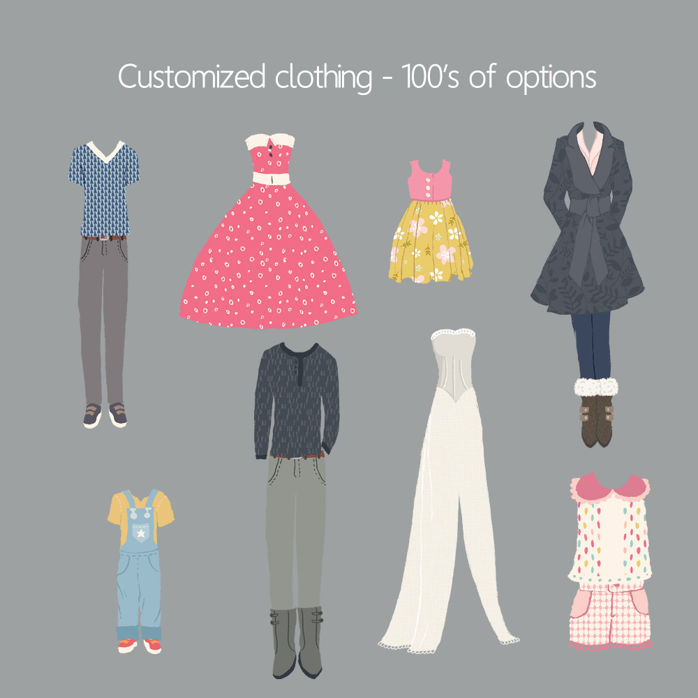 Step three - Clothing - Customize clothing based on season/occasion