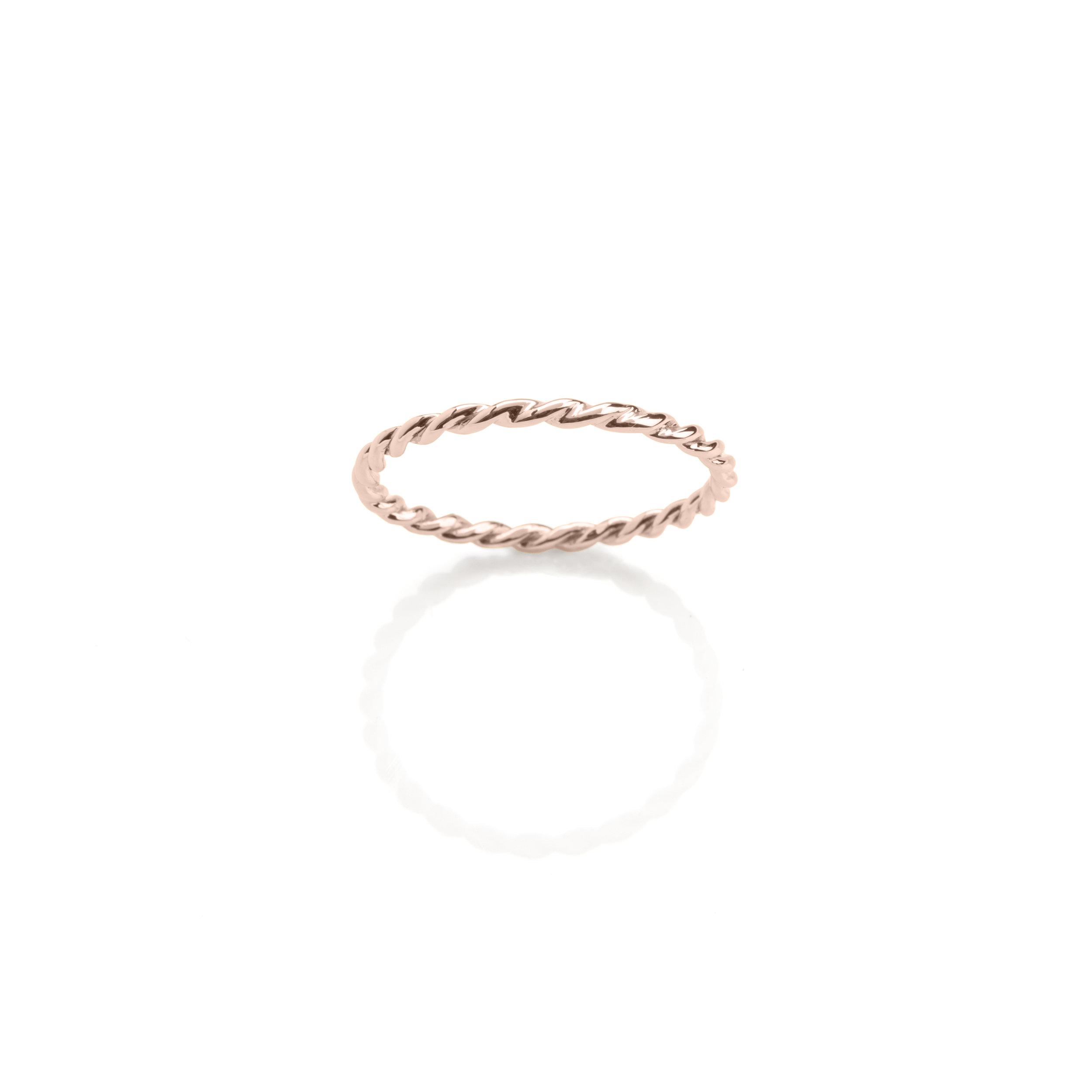 Hoop Rose Jewellery in Rose Yellow White Gold Diamonds Twist
