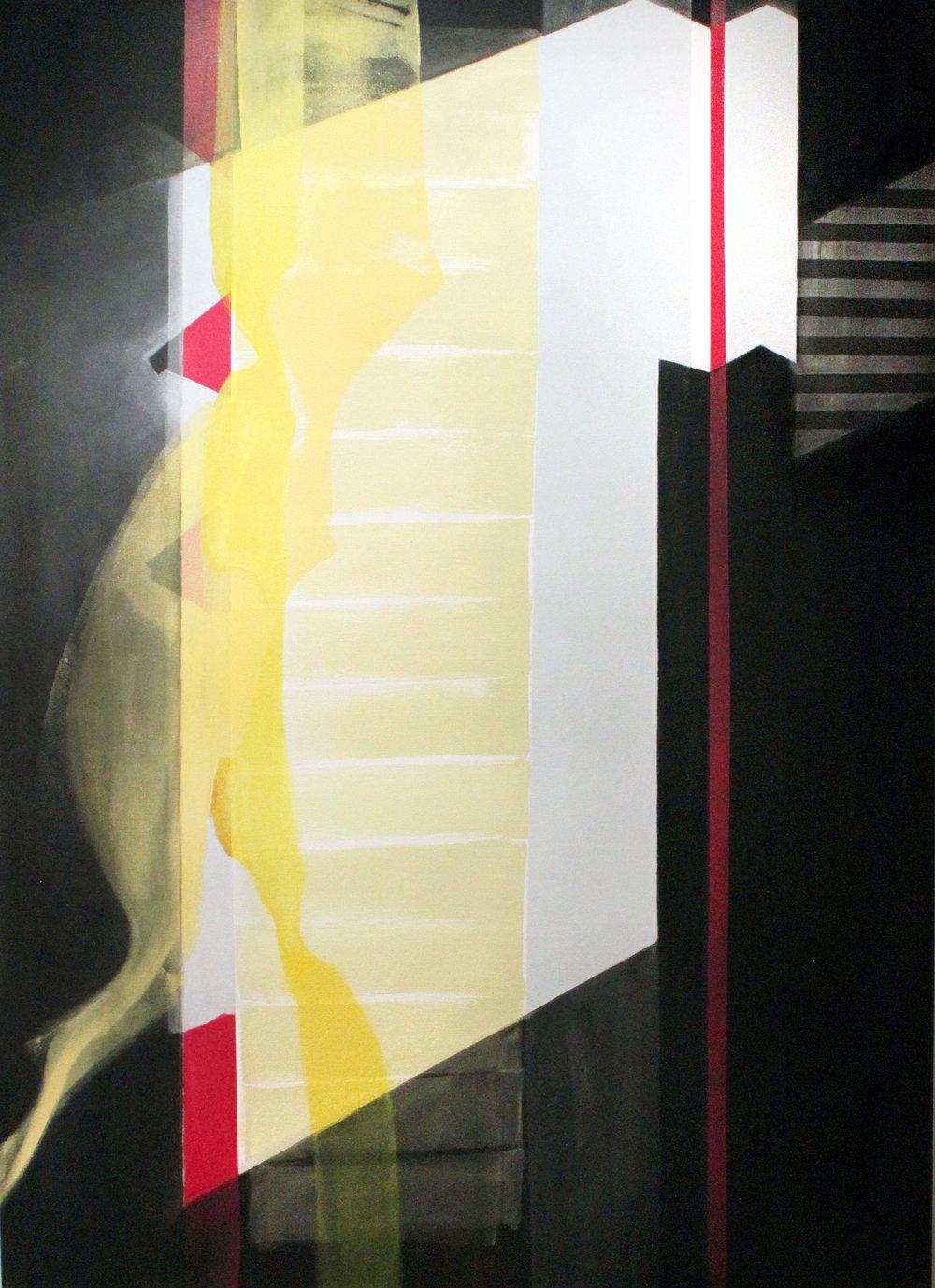 9:45–10:17 am , 66x48, acrylic on canvas