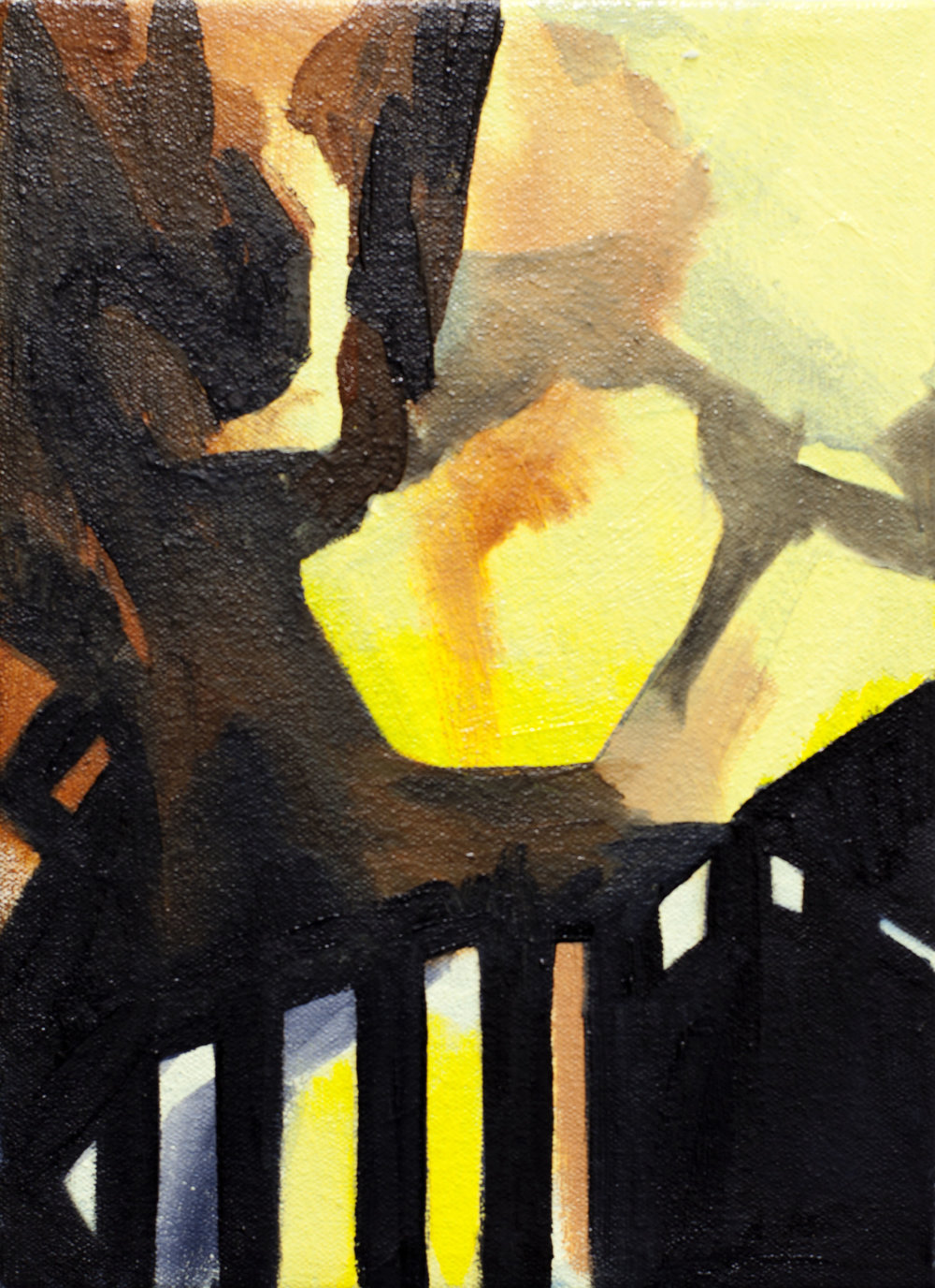 December IV , 11x8, oil on canvas