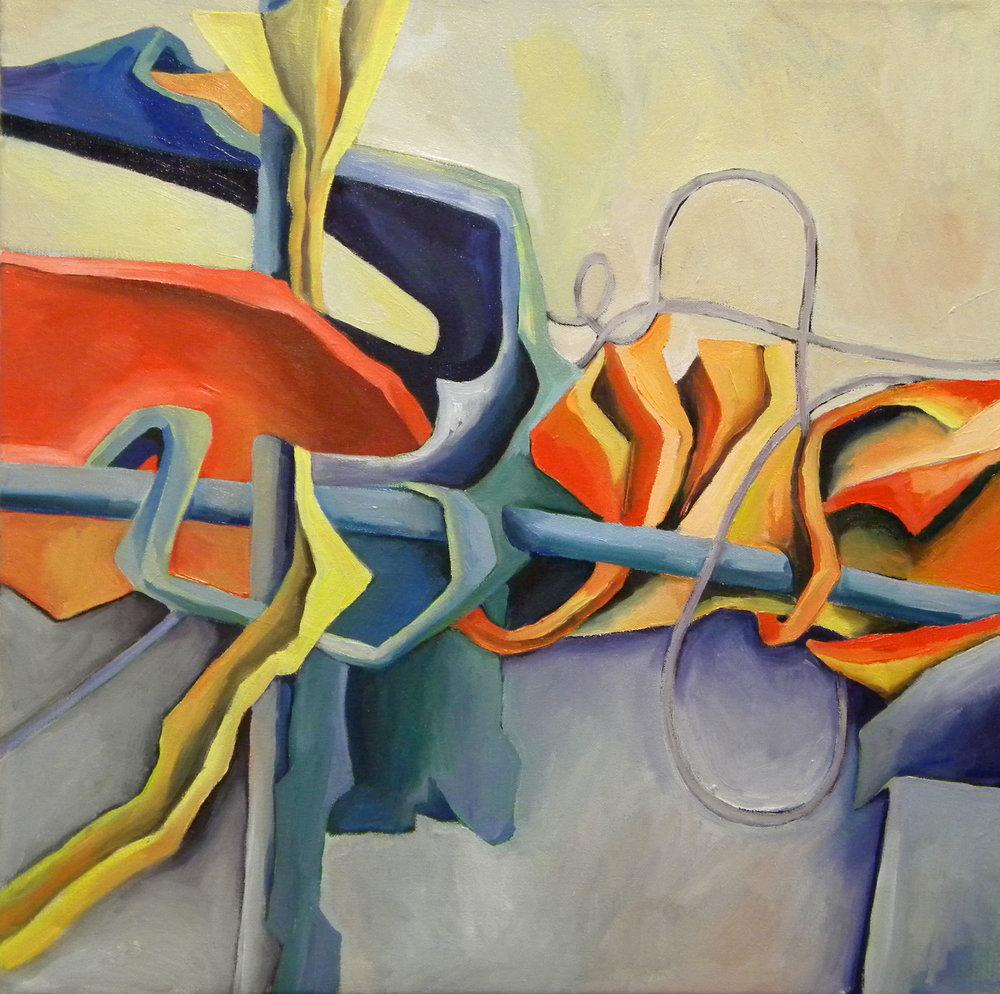 Organic Rhythm I , 24x24, oil on canvas