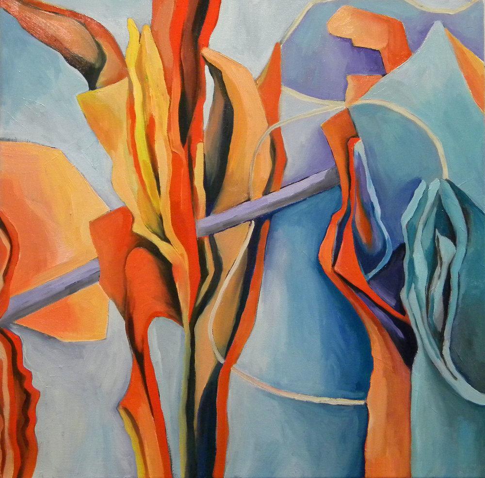 Organic Rhythm Ii , 24x24, oil on canvas