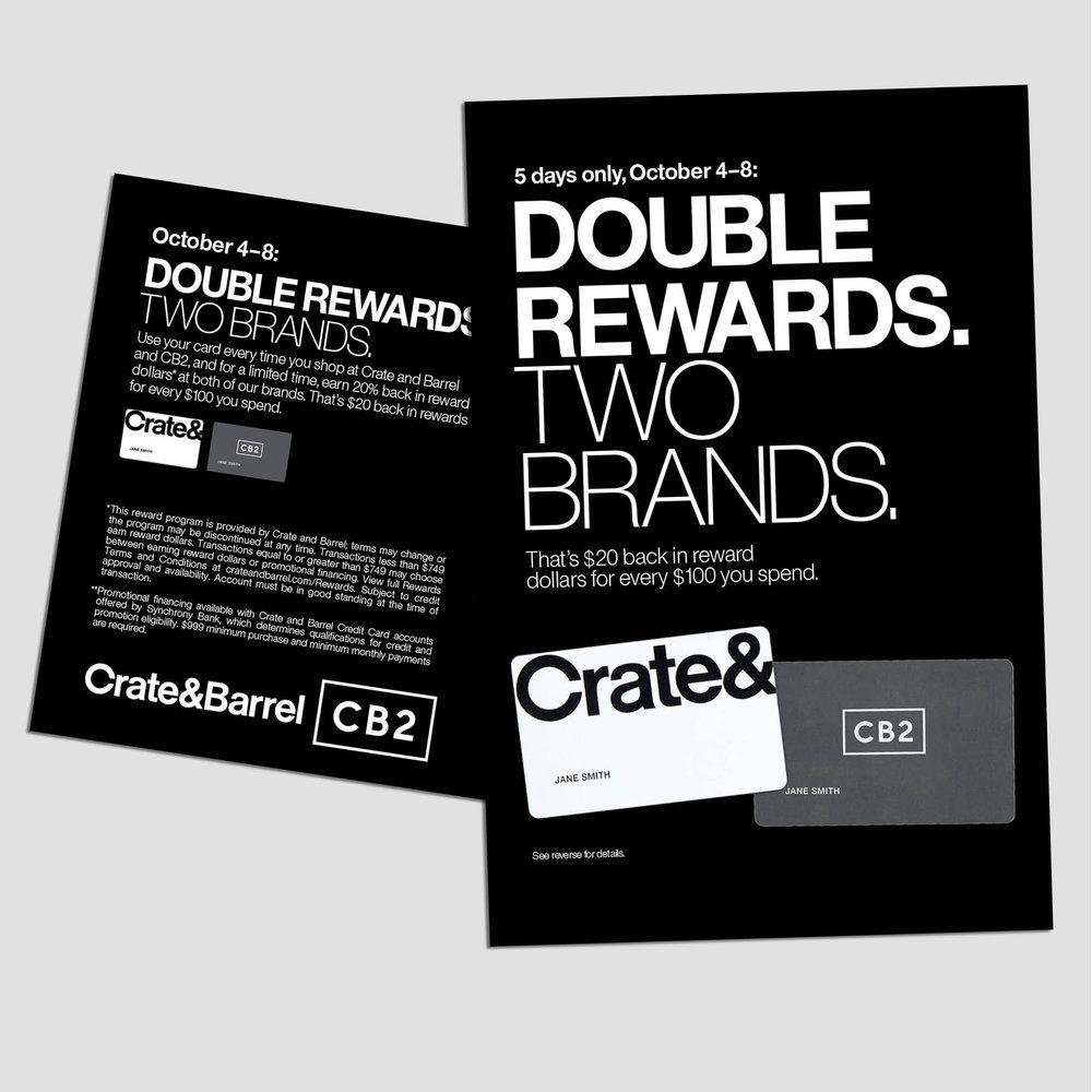 CBCC DOUBLE REWARDS POSTCARD // 2018