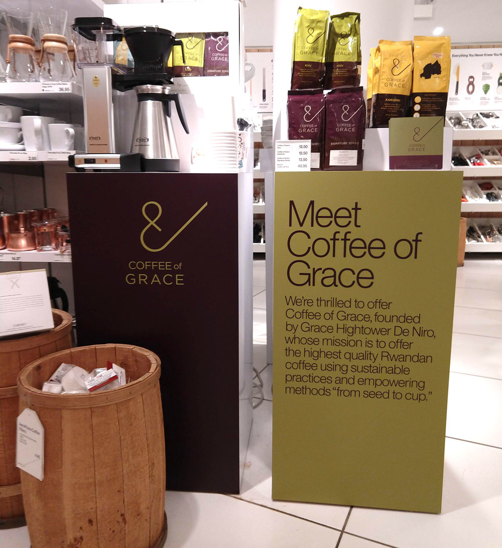 COFFEE OF GRACE DISPLAY SIGNAGE // 2018
