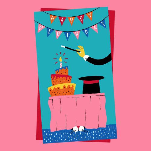 Magic show birthday kineticards ar greeting cards magic show birthday m4hsunfo