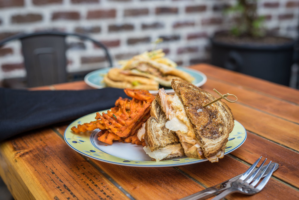 Turkey Ruben w/ Sweet Potato Fries