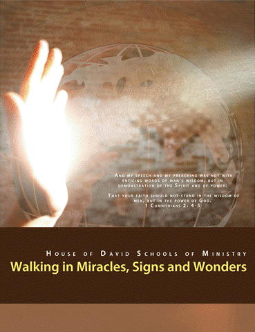 """Walking in Miracles, Signs, and Wonders - """"And my speech and my preaching was not with enticing words of man's wisdom, but in demonstration of the Spirit and of power. That your faith should not stand in the wisdom of men, but in the power of God"""" 1 Corinthians 2: 4-5So many in the Body of Christ are seeking to demonstrate and walk in the power of God, yet they do not. This course is designed to cause the Christian who truly wants to walk in God's power, to gain the necessary understanding, and equipment to do so. You will gain the understanding of the 3 components that hinder Christians from walking in God's power, as well as how to employ them in your life. This course will drastically increase your faith and cause you to boldly walk in the dominion that God has promised you. This course is for all who believe that with God nothing is impossible. You will not just hear us declare that you should heal the sick, cast out devils and raise the dead, rather you will be equipped to do so according to Matthew 10:7-8. You will learn the """"Power Rule"""" or how to legally minister God's power."""
