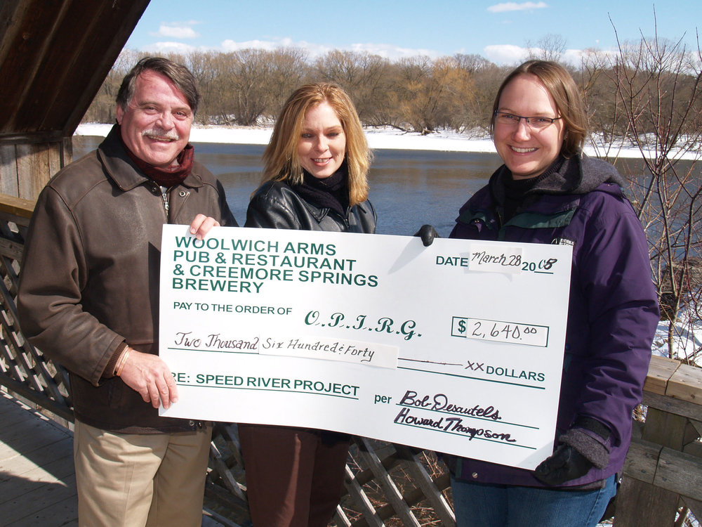 Donation for River Restoration, With Debbie Sinclair and Erin from OPIRG.