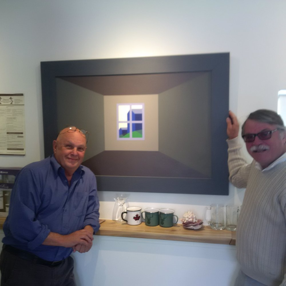 Bob with artist Charlie Pachter in Orillia
