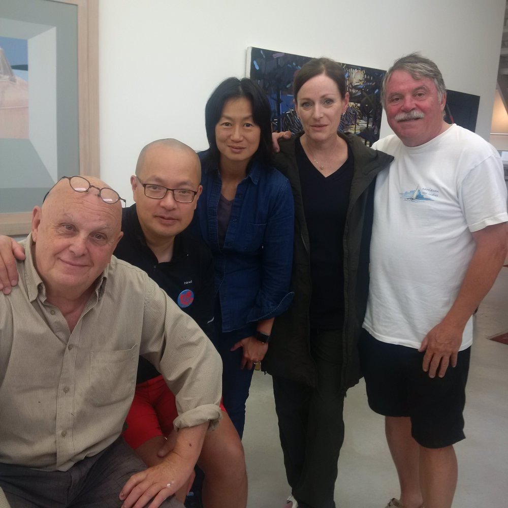 With Charlie Pachter, Keith, Judith, and Amanda