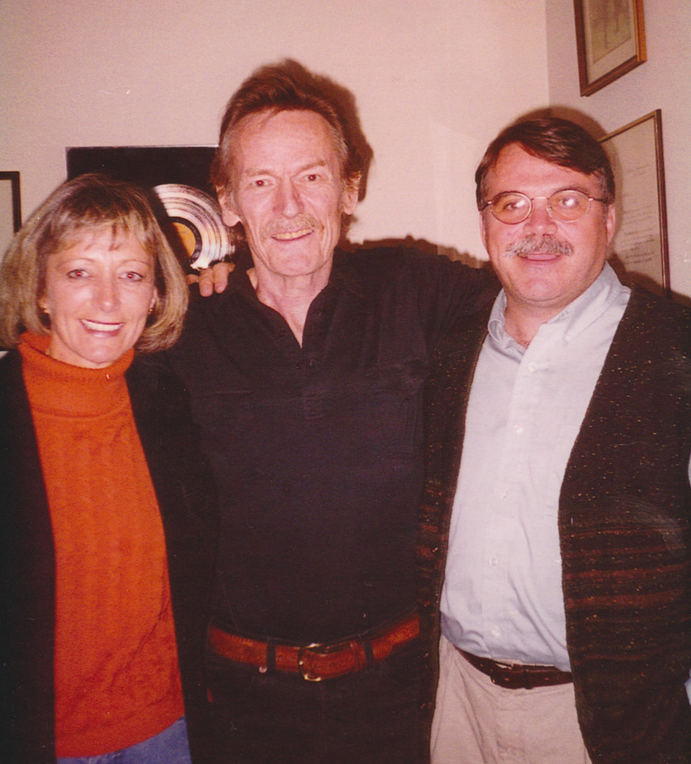 Sue and I with Gordon Lightfoot at his home
