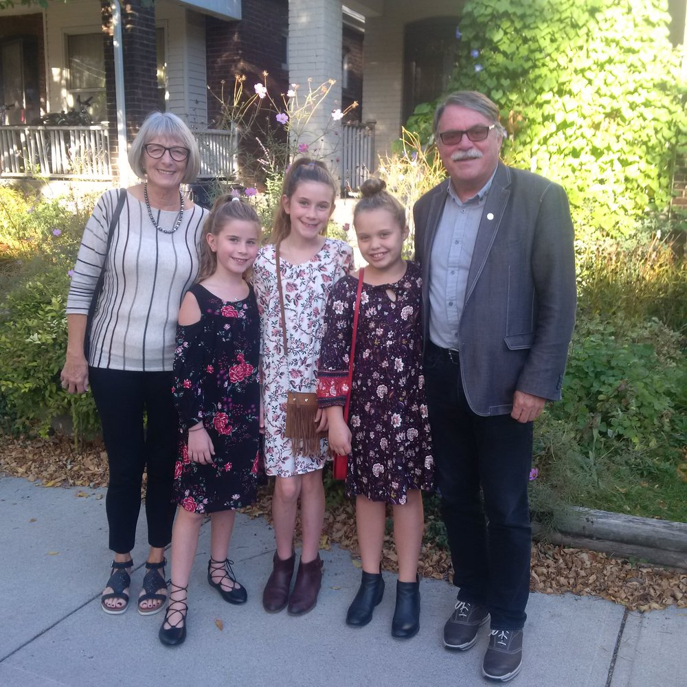 Nanny‎ and Pops with 3 Grand Girls