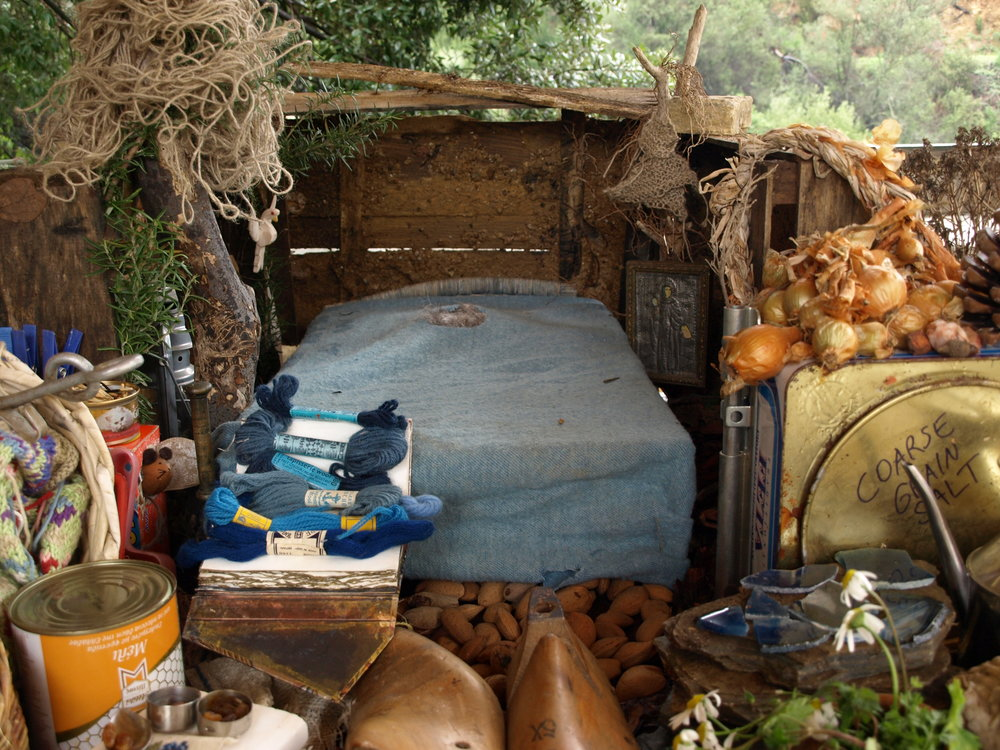 We discover a tiny blue bed and traces of a life once lived...