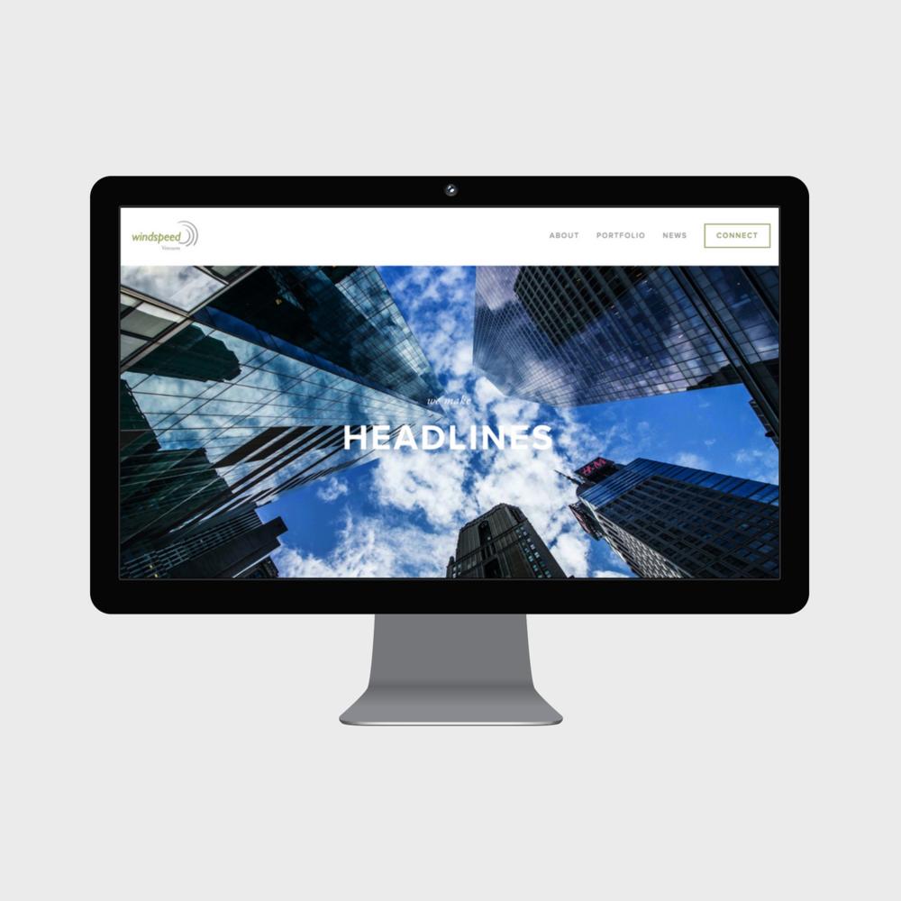 Update Old Website to Squarespace Venture Capital Firm Windspeed Ventures New News Desktop.png