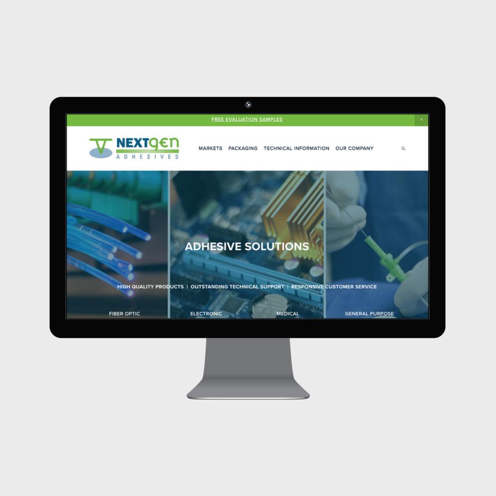 NextGen Adhesives Custom Squarespace Website Small Business.png