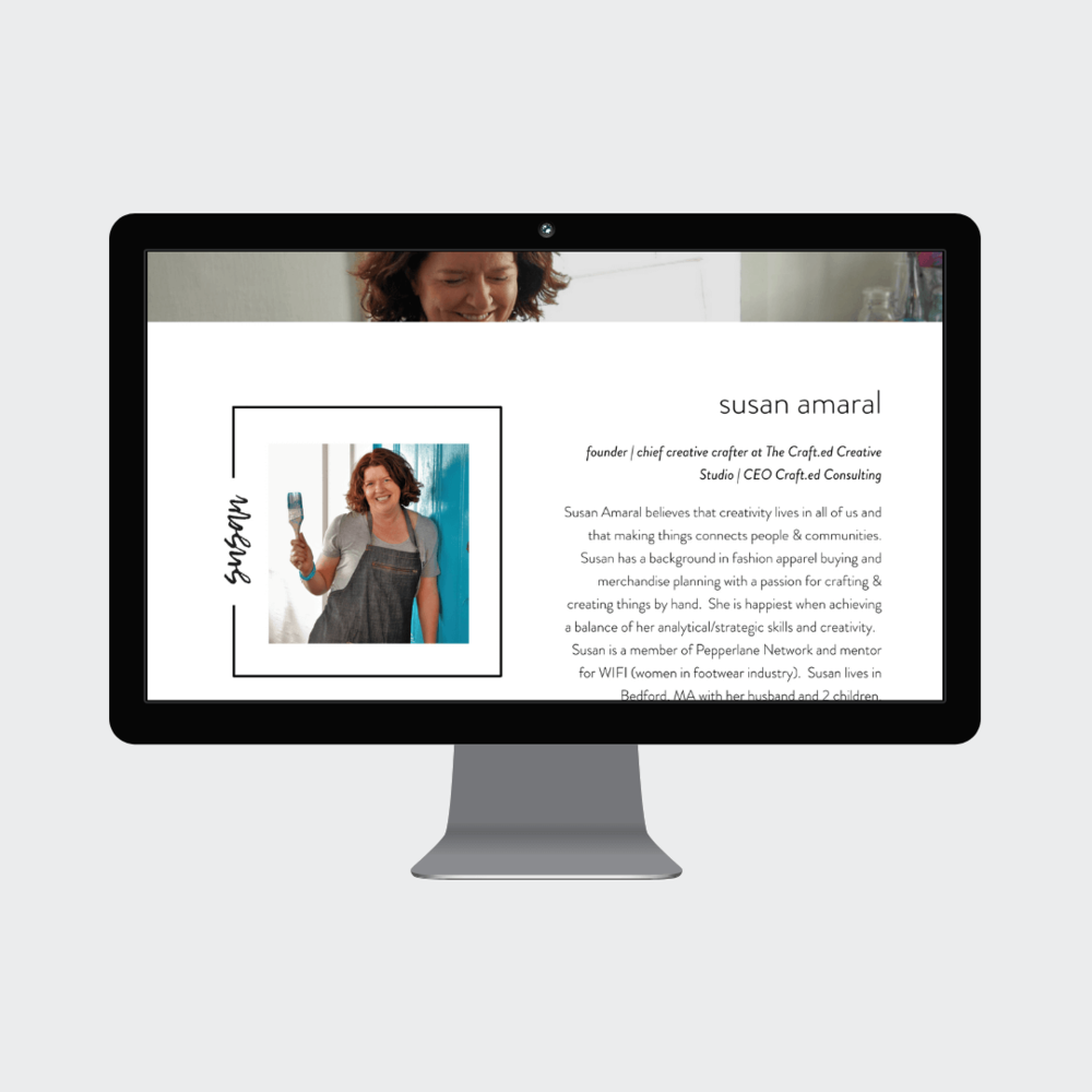 The Crafted Studio Concord MA Custom Squarespace Commerce Website 2.png