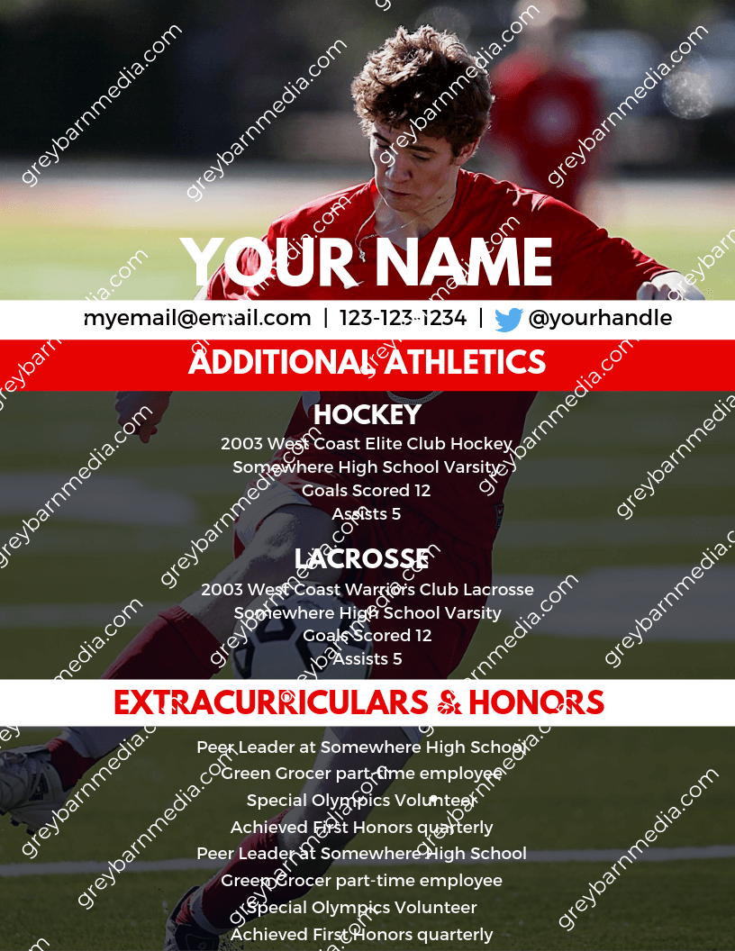 custom college soccer recruiting profile template 2