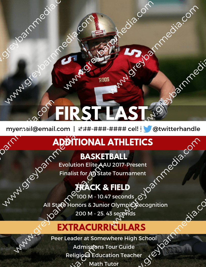 custom college football recruiting profile template 2