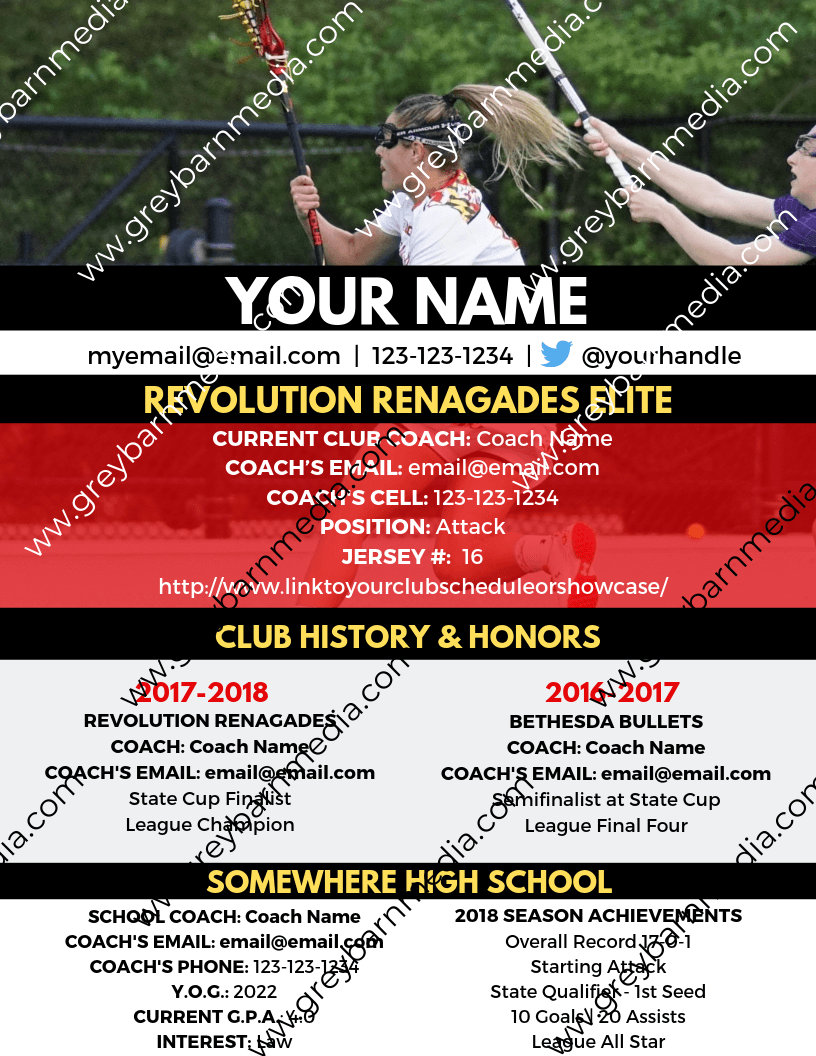 custom college lacrosse recruiting profile template 1