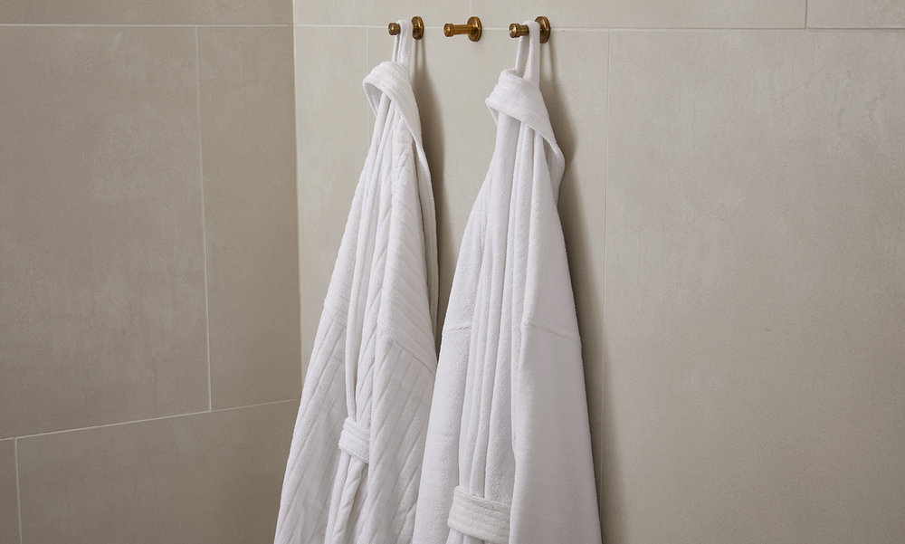 Robes  Irresistibly soft and luxurious robes that are perfectly oversized and comfortable to make you feel pampered and relaxed.   Learn More...