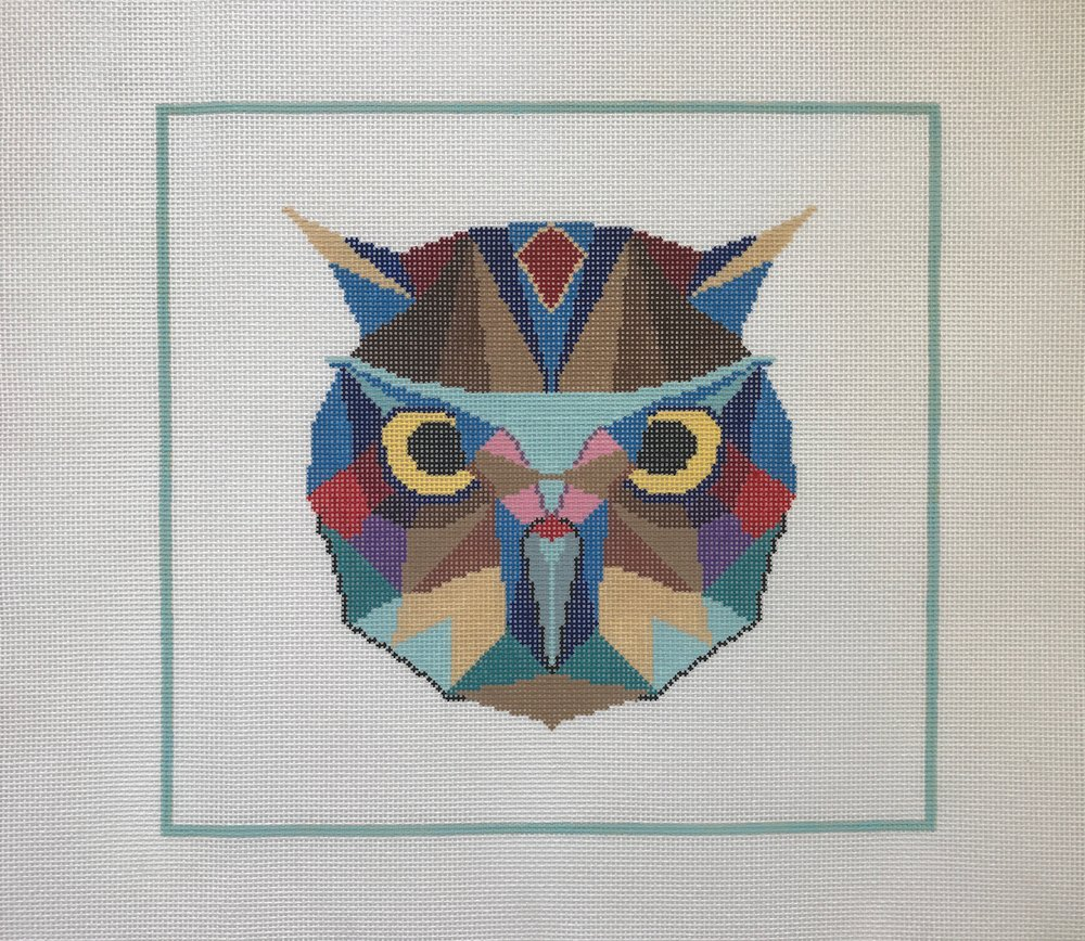 """Watchful Owl - (PP39) 12""""W x 11""""H on 13 mesh"""